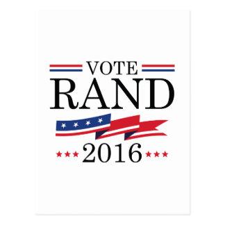 Abstimmungs-Rand Paul 2016 Postkarte