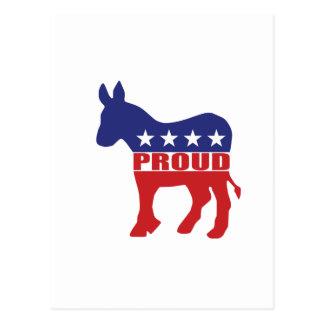 Abstimmungs-stolzes demokratisches postkarte