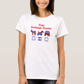 Abstimmungscottish-Terrier #zelection T-Shirt