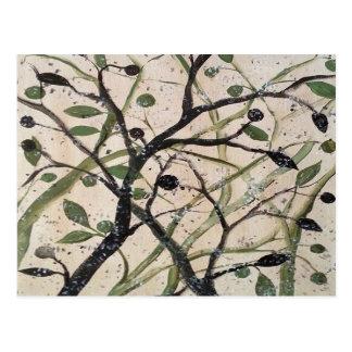 Abstracet Olivenbaum Postkarten