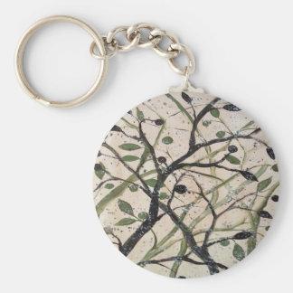 Abstracet Olivenbaum Schlüsselanhänger