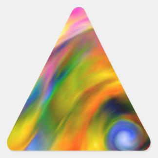 Abstract7 Dreieckiger Aufkleber