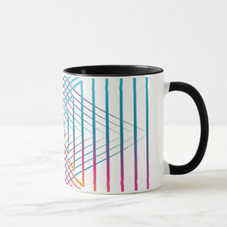 Abstract colorful triangle tasse