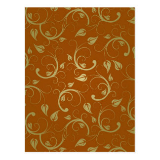 Abstract-Floral-Pattern1 ABSTRAKTER GOLDENER ROST Postkarte