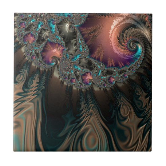Abstract fractal patterns and shapes. Fractal Art Fliese