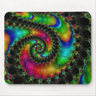 Abstract fractal patterns and shapes. Fractal Art Mousepad