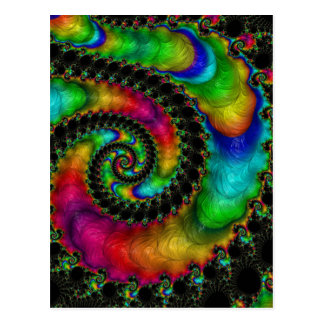 Abstract fractal patterns and shapes. Fractal Art Postkarte