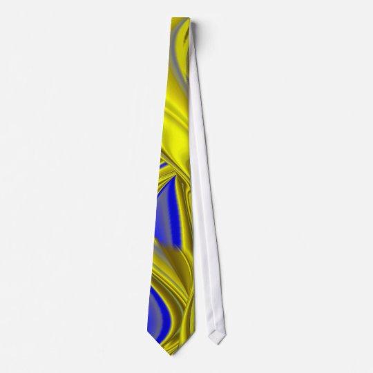 abstract in gold-gelb blau krawatte
