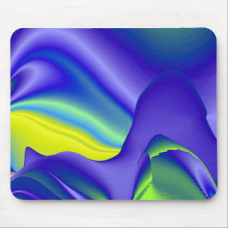 Abstract in green and purple mousepads
