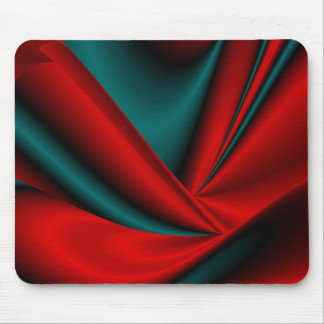 Abstract in green black red mauspad