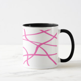 Abstract lines - Becher - Farbe: Rose Tasse