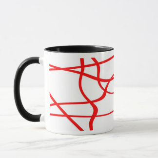 Abstract lines - Becher - Farbe: Rot Tasse