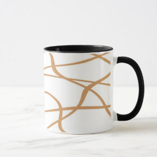 Abstract lines - Becher - Farbe: Sahne Tasse