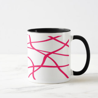 Abstract lines - Fuschia Tasse