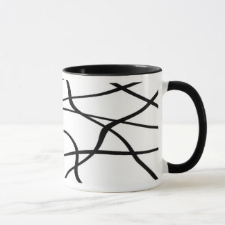 Abstract lines - Noir Tasse