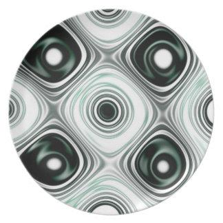 Abstract pattern flache teller