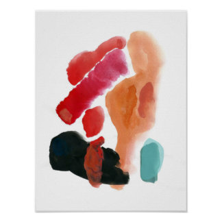 Abstract poster gouache/watercolor
