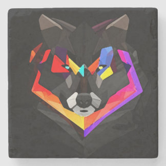 Abstract wolf coaster steinuntersetzer