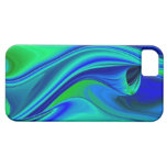 abstractly in green blue purple iPhone 5 cover