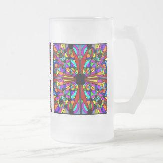 AbstractStained mattiertes hohes Glasmug4 Mattglas Bierglas