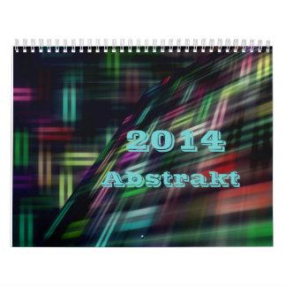 Abstrakt 2014 abreißkalender
