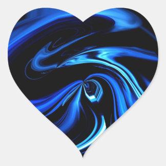 Abstrakt, den Blauwal fütternd Herz-Aufkleber