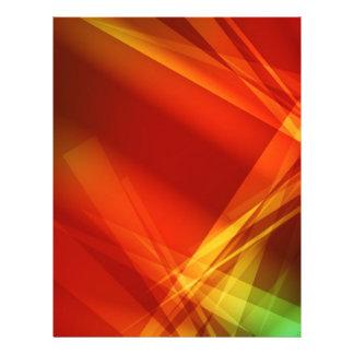Abstrakt-Hintergrund ROTES GELBGRÜN DIGITAL RANDO 21,6 X 27,9 Cm Flyer