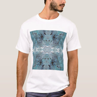 Abstrakt in aquamarinem, mit einigen weichen T-Shirt