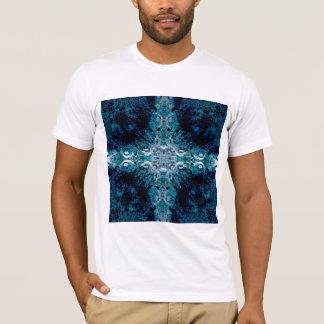 Abstrakt in Blauem und in aquamarinem. Einige T-Shirt
