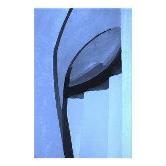 Abstrakt in den Schatten auf Blau Flyer