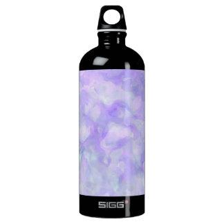 Abstrakt in weichem Lila und blau Aluminiumwasserflasche