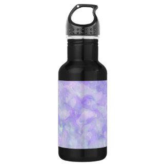 Abstrakt in weichem Lila und blau Trinkflasche