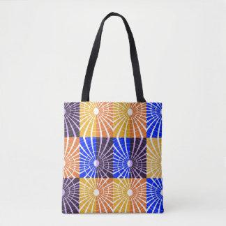 Abstrakt Kunst-Blau und Brown-Gitter Tasche