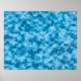 Abstrakt Kunst-blauer und weißer Hintergrund Poster