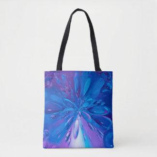 Abstrakt lässt Kunst-blaues Wasser Hintergrund Tasche