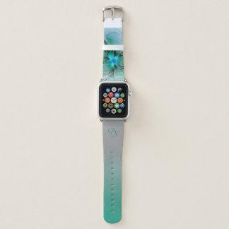 Abstrakt mit blauem, modernem apple watch armband