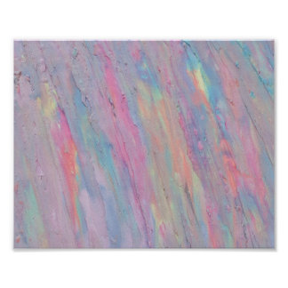 Abstrakt, Pastell, Regenbogen, handgemalt, Poster