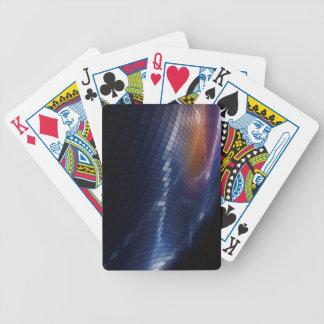 Abstrakt-Quadrat-Pixel-Mosaik-Vektor-Hintergrund Bicycle Spielkarten