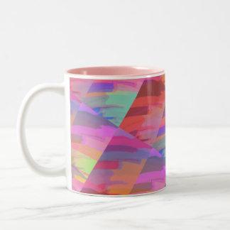 Abstrakt tun Sie es sich Zweifarbige Tasse