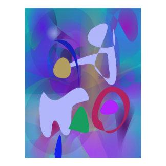 Abstrakte abstrakte blaue Farbe Flyer Druck