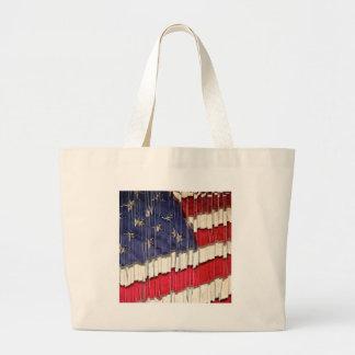 Abstrakte amerikanische Flagge Jumbo Stoffbeutel