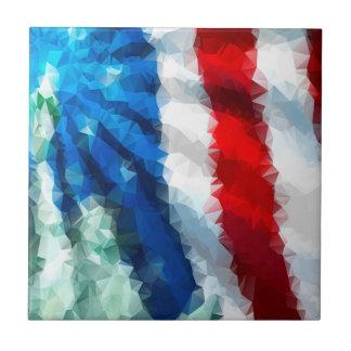 Abstrakte amerikanische Flagge/kleine Keramikfliese