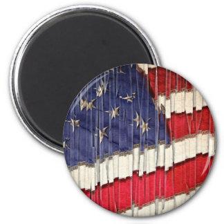 Abstrakte amerikanische Flagge Runder Magnet 5,7 Cm