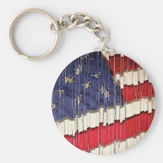 Abstrakte amerikanische Flagge Schlüsselanhänger