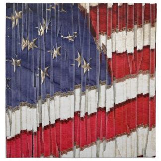 Abstrakte amerikanische Flagge Serviette