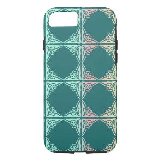 Abstrakte aquamarine Fliesenbeschaffenheit iPhone 7 Hülle