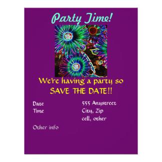 Abstrakte Arican Gänseblümchen-Party Einladung 21,6 X 27,9 Cm Flyer