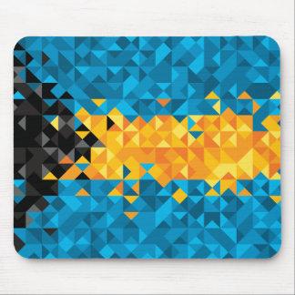 Abstrakte Bahamas-Flagge, bahamische Mausunterlage Mousepad
