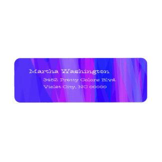 Abstrakte Bänder von Blauem und von violettem