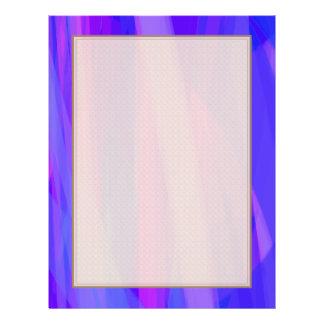Abstrakte Bänder von Blauem und von violettem 21,6 X 27,9 Cm Flyer